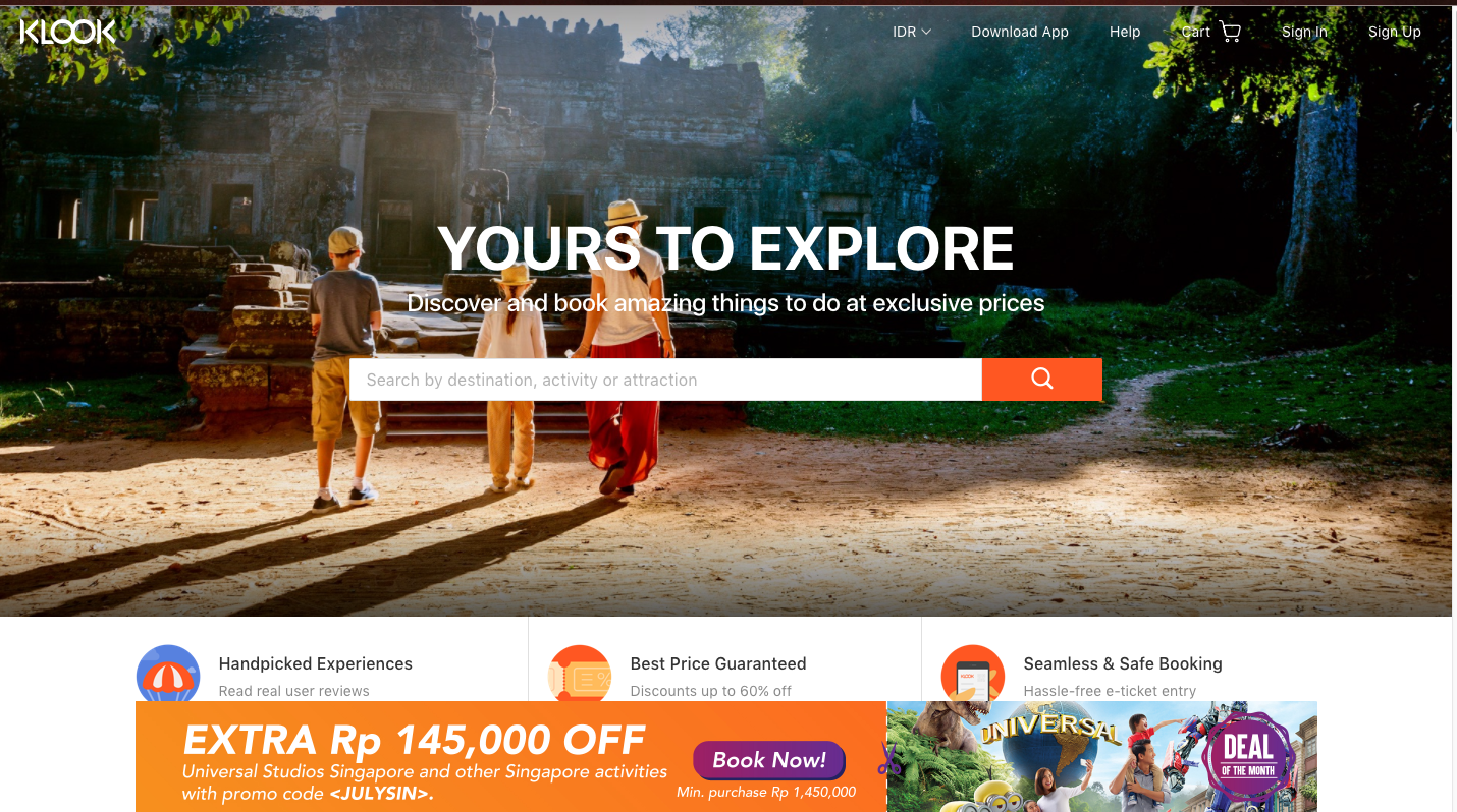 Promo Klook Indonesia Ags 2018 + Cashback s/d 4% - ShopBack