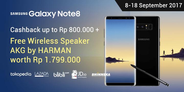 Promo Galaxy Note 8
