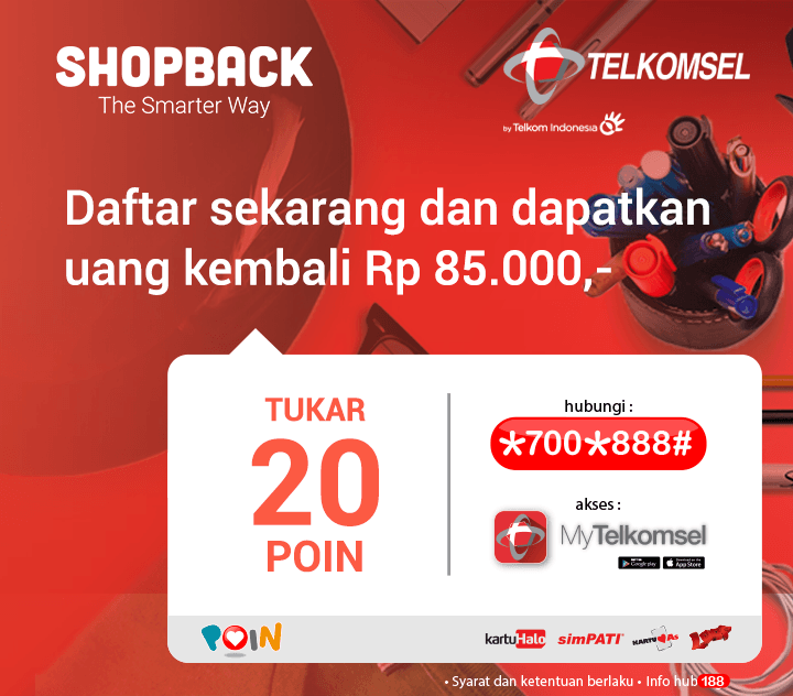 telkomsel shopback