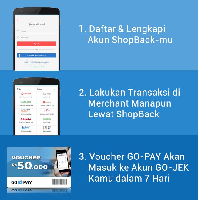 GO-PAY Rp 50.000 Gratis