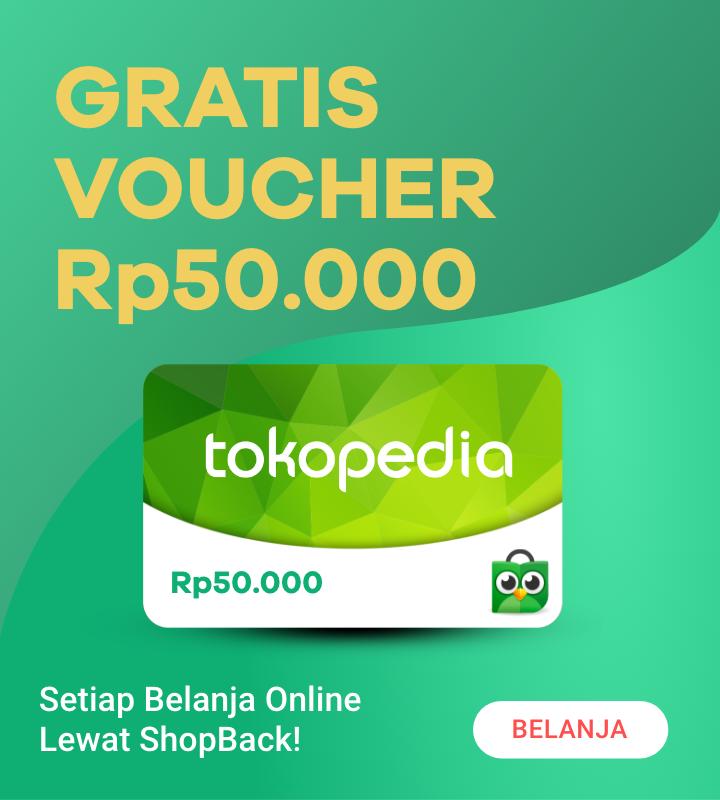 Gratis Voucher Tokopedia Rp 50.000