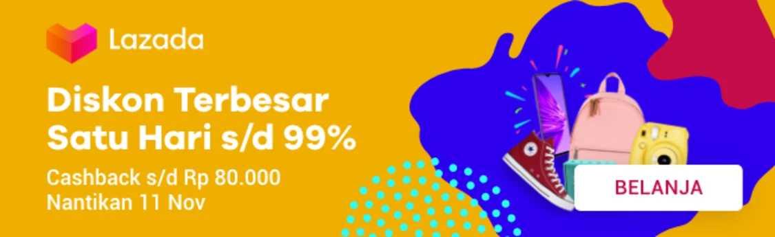 lazada 11.11 satu hari diskon 99%