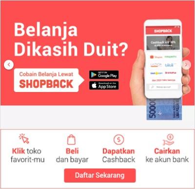 belanja dapat cashback dari shopback