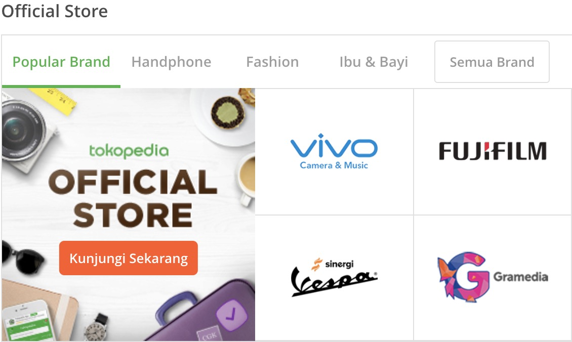 promo tokopedia official store