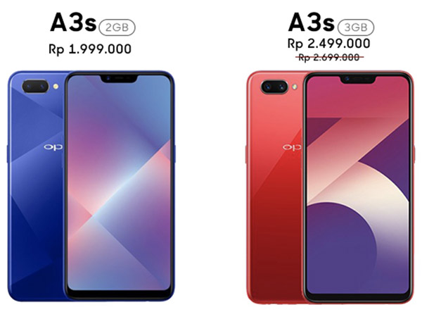 harga oppo a3s