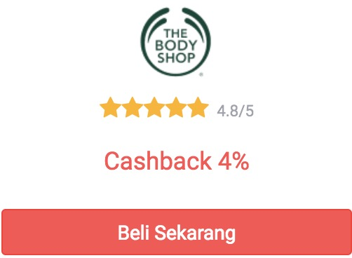 cashback the body shop dari shopback