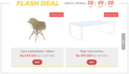 fabelio promo diskon flash sale