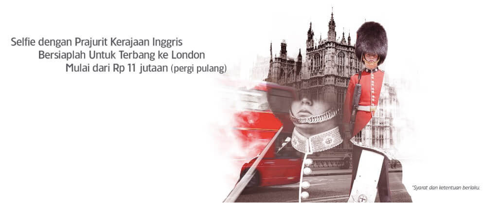 Terbang ke London bersama Garuda