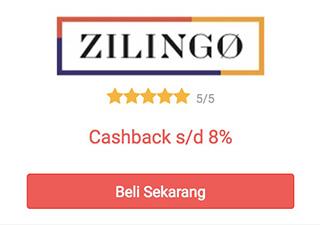 cashback zilingo dari shopback