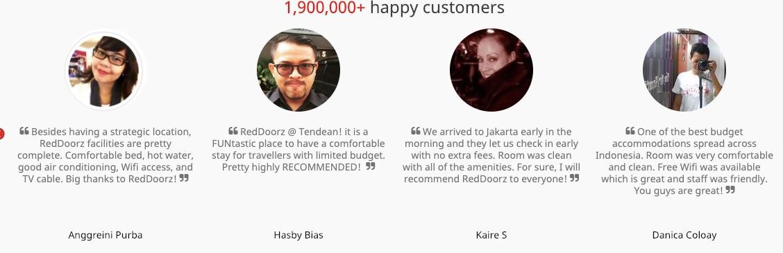 Reddoorz Customers