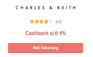 cashback charles & keith dari shopback