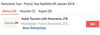 diskon panorama jtb tour tiket murah