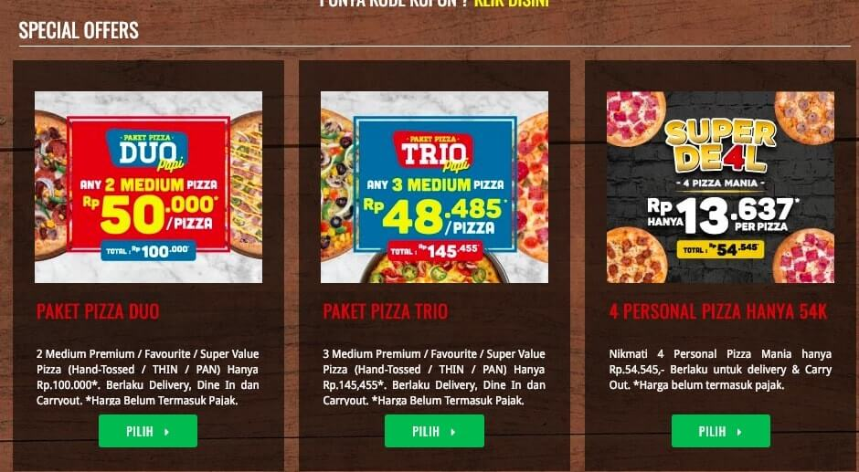 Special Offers - Dominos Pizza