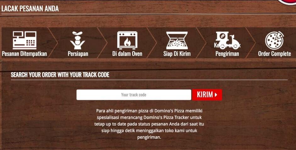 Dominos Pizza Track