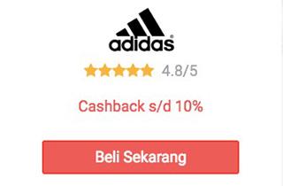 cashback adidas dari shopback