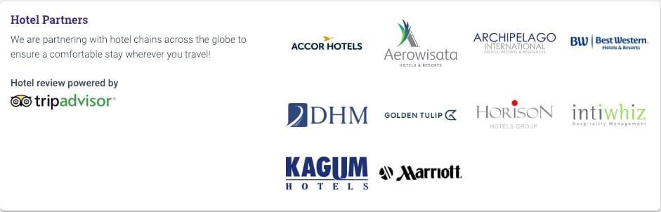 Sriwijaya Air Hotel Partners