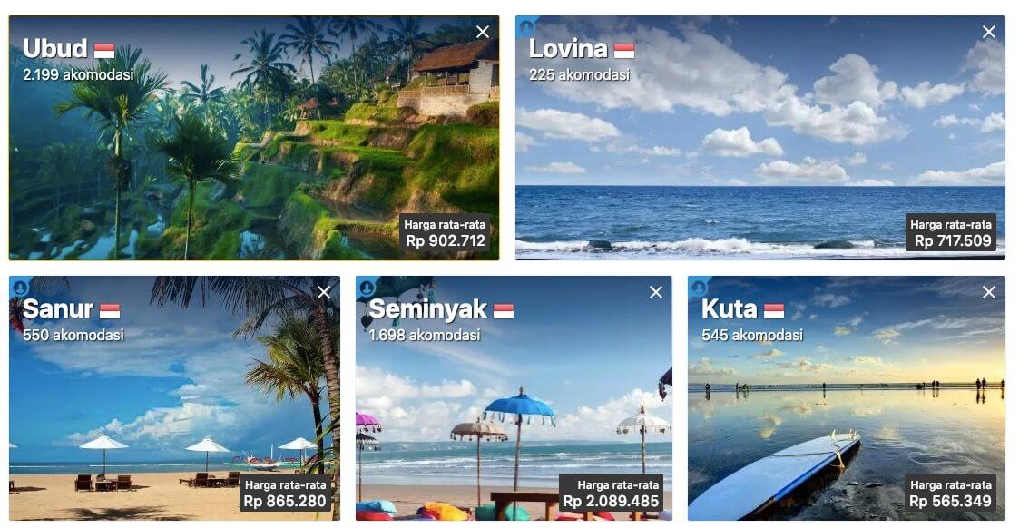 Harga Akomodasi Bali Booking.com