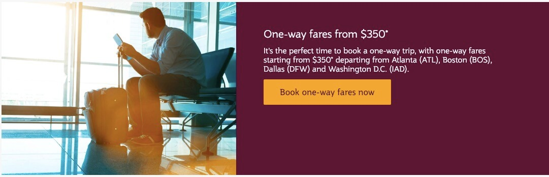 One-way Fares Qatar Airways