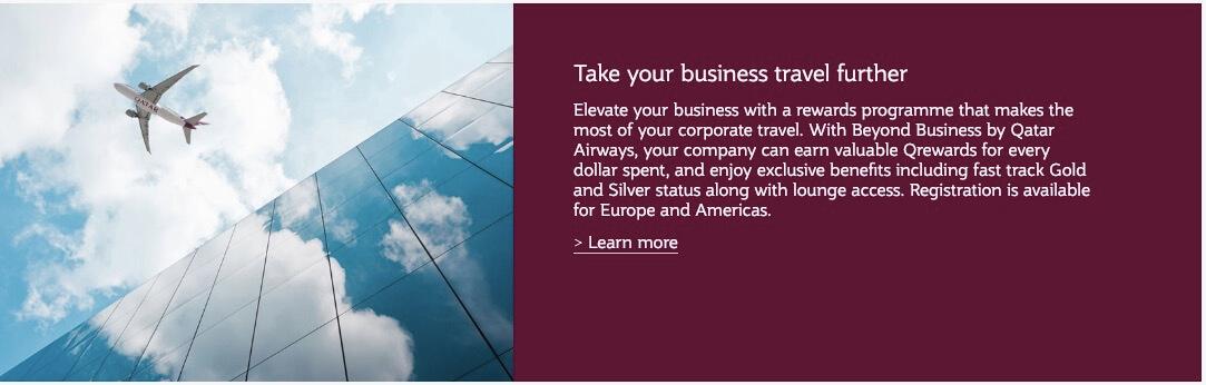 Business Travel Qatar Airways