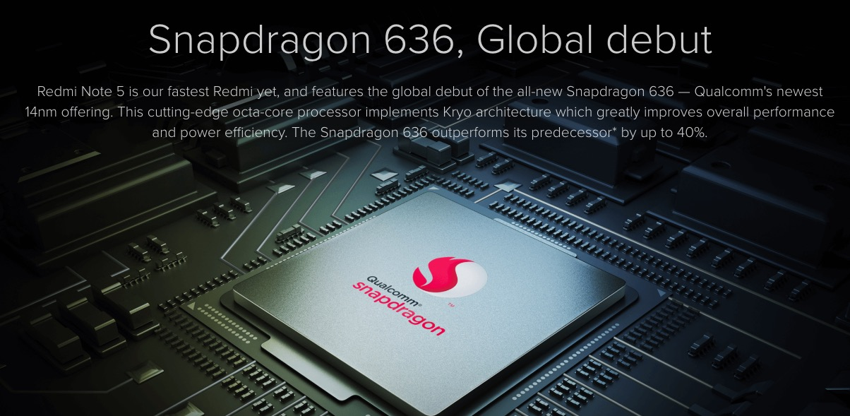 snapdragon 636 Redmi note 5