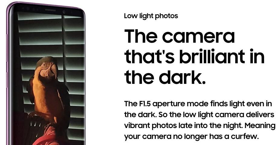 Kamera Samsung S9