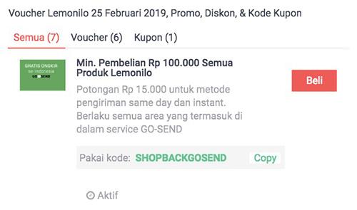 promo lemonilo di shopback