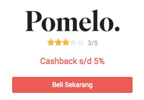 cashback pomelo di shopback