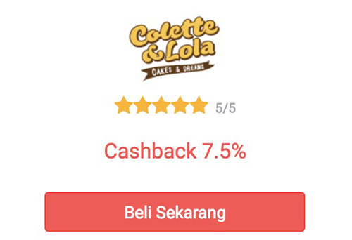cashback colette & lola dari shopback