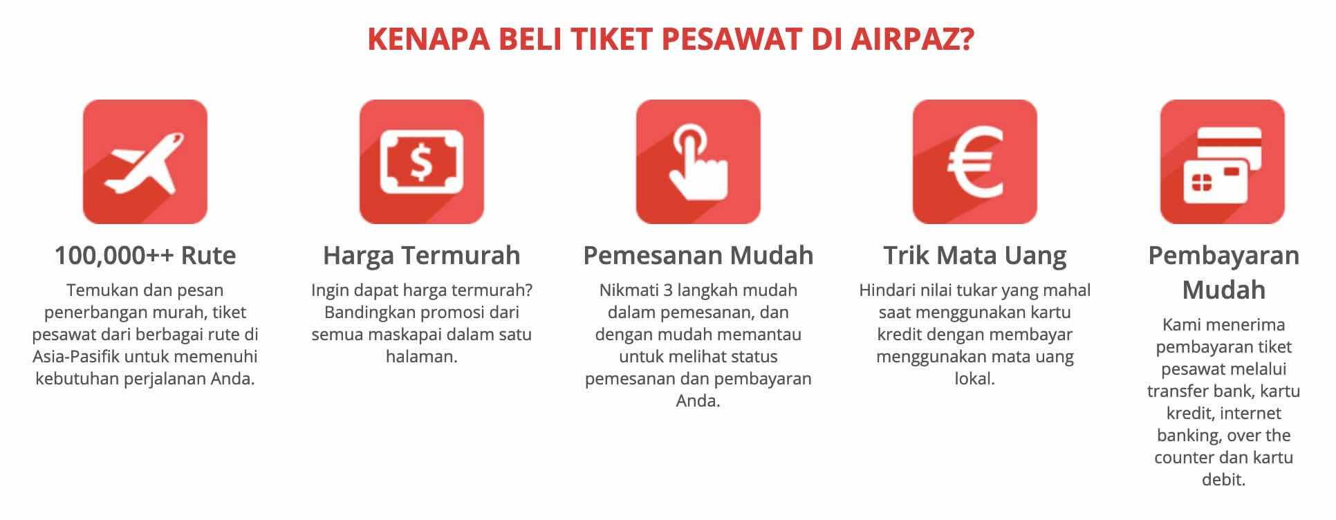 Cara Memesan Tiket Penerbangan di Airpaz