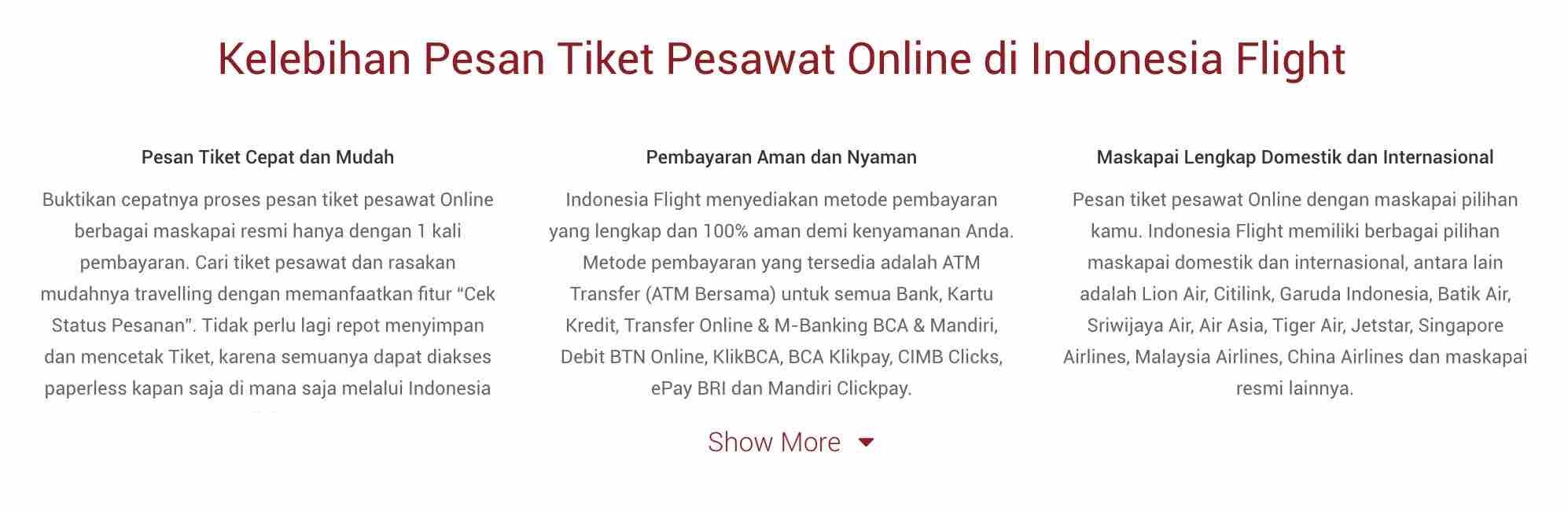 Kelebihan pesan tiket pesawat Online di Indonesia