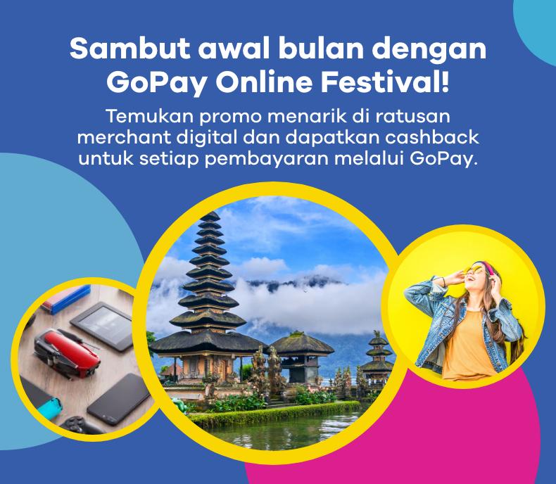 Sambut awal bulan dengan GoPay Online Festival