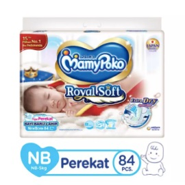 MamyPoko Popok Perekat Royal Soft NB84