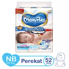 MamyPoko Popok Perekat Royal Soft NB52