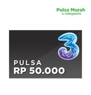 Pulsa 3 Rp 50.000