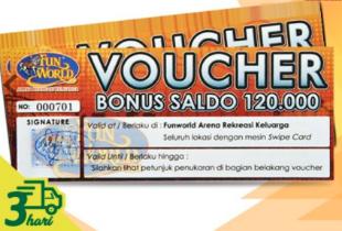 Voucher Bermain di Funworld Senilai 120 Ribu - Rp 88.000