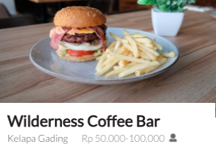 Most Booked: Wilderness Coffee Bar -  Diskon s/d 50% Off