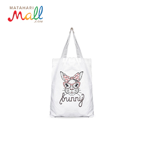 Tote Bag White - Cat