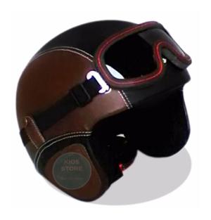 Helm Retro Leather