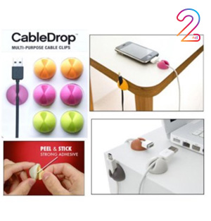 Klip Kabel Silicone 6 pcs
