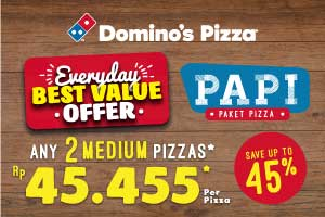 PAPI: Paket Pizza Duo Save Up To 45%