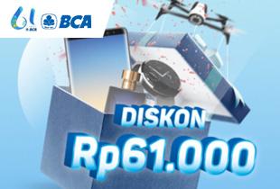 Kode Voucher Ultah BCA Diskon Rp 61.000 (Min. Transaksi Rp 200.000)