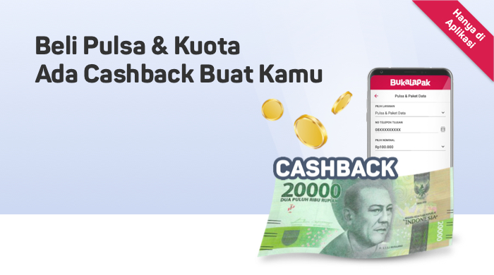 Kode Diskon - Beli Pulsa dan Kuota Lebih Hoki, Dapatkan Cashbacknya