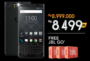BlackBerry Official Store Promo: BB Keyone Extra Diskon Rp 500.000 + Free JBL GO Speaker