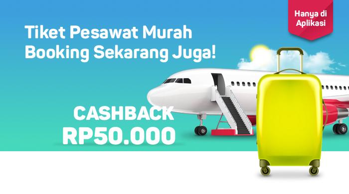 Kode Promo Bukalapak - Tiket Terbang Murah Bebas Tujuan, Makin Hemat dengan Cashback 8%