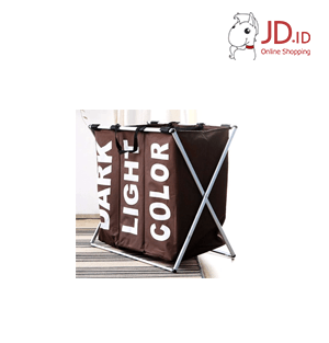 Fabric Laundry Basket Brown