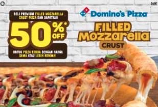 Promo Domino's Pizza - 50% Off Second Pizza