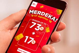 Promo Merdeka: Diskon Up To 73% + 17% Off