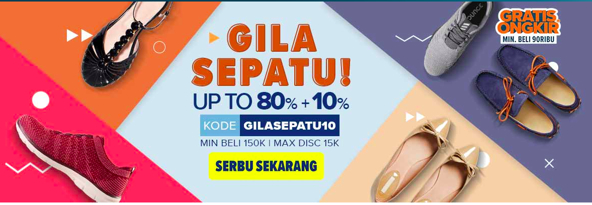 Gila Flat Shoes Diskon 80%