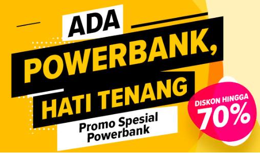 Lazada Promo - Diskon hingga 70%  Promo Setiap Pembelian Powerbank di Lazada