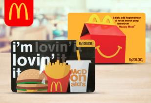 Promo McDonald's Gift Card Diskon Hingga 35% dengan BCA